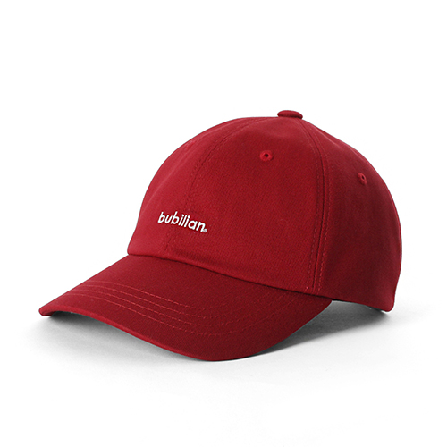 Bubilian Logo  Ball Cap_Red