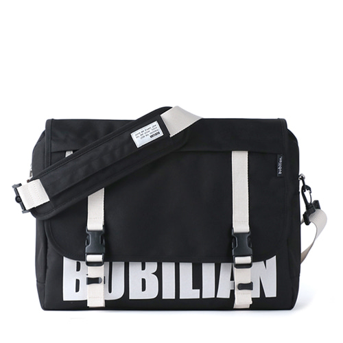 Bubilian Logo Messenger Bag_Black&White