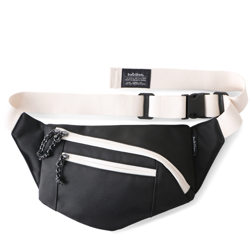 Bubilian Pentagon Waist Bag_Black&White
